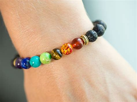 real stones for jewelry 7 chakra healing bracelet with real stones volcanic lava