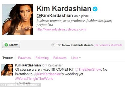 kim kardashian wedding: ellen degeneres' tweets scored her