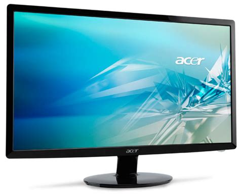 Monitor Lcd acer debuts s201hl s211hl and s231hl lcd monitors