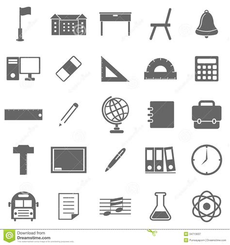 coloring school icons royalty free stock photos image school icons on white background stock vector image
