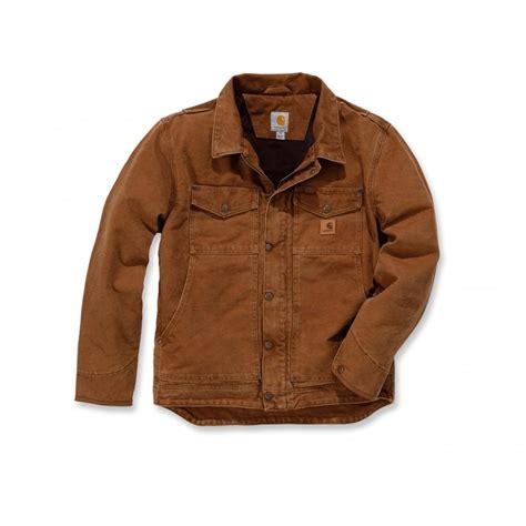 Coat Brown Size M carhartt 101230 sandstone berwick jacket carhartt brown