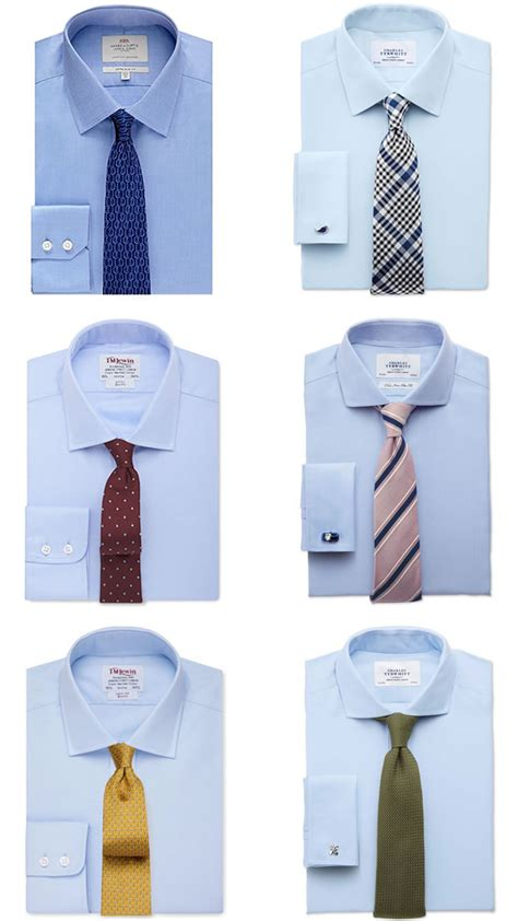 what color tie with light blue shirt a guide to s shirt tie combinations fashionbeans