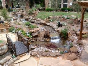 Backyard Water Features Ideas Water Garden And Patio Since It S Impossible To Grow Grass In Parts Of My Yard Yard