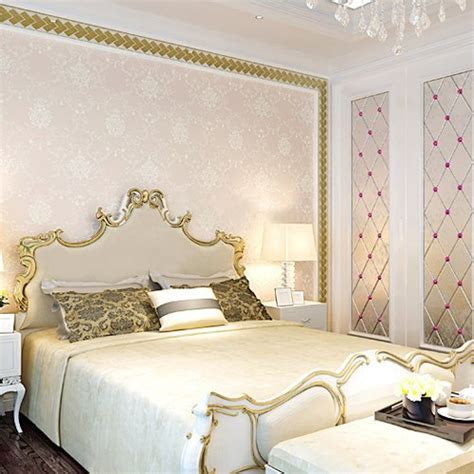 Light Pink Wallpaper For Bedrooms Embossed Luxury European Style Wallpaper Painted Flower Royal Damask Graphic Floral