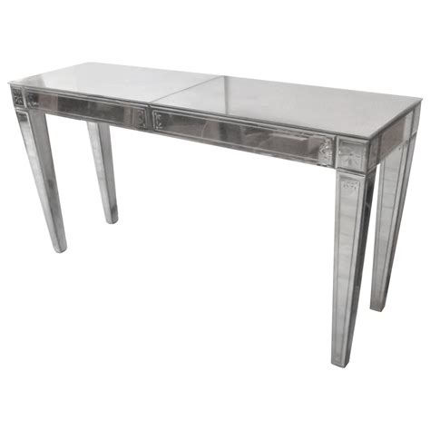 mirrored sofa table distressed mirrored console table at 1stdibs