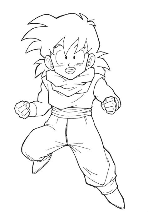 dragon ball z kai coloring pages