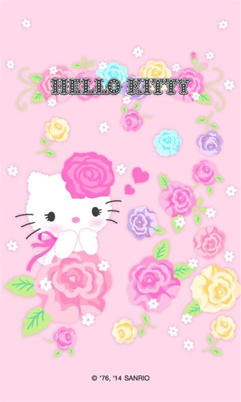 hello kitty home screen wallpaper hello kitty rosy screen lock android apps on google play