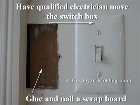 How To Move A Through A Door by Tip Moving A Light Switch Away From Door Trim The