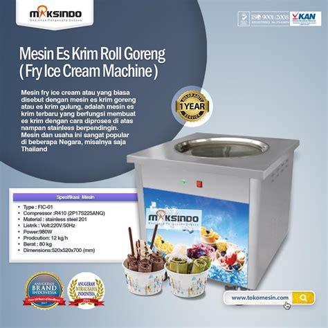 jual mesin fry es krim roll goreng di