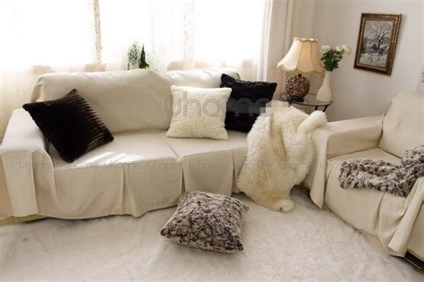 throw blanket for leather couch leather fur copy gray white european modern decor throw