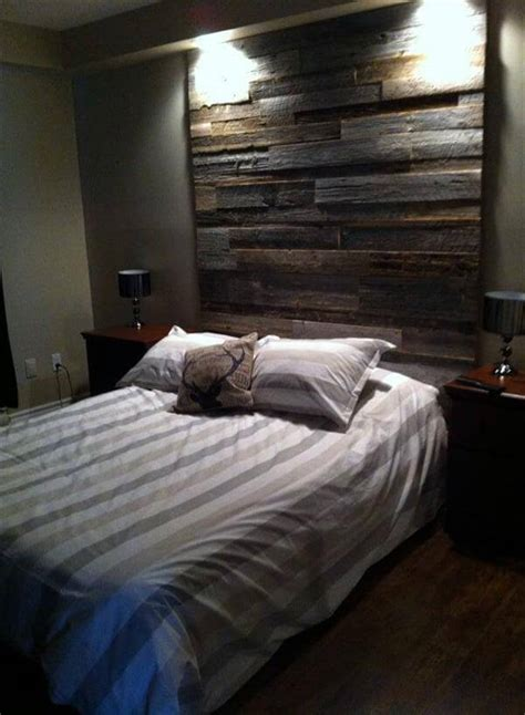 how to hang a headboard on a wall diy pallet wall headboard design 99 pallets