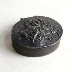 antique english pewter tobacco boxes vintage black lacquer trinket box painted signed by artist thanh le gold