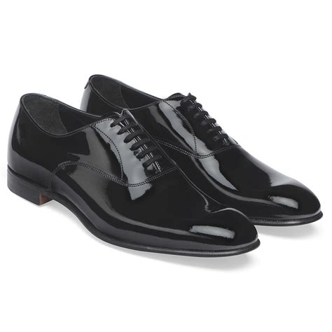 Patent Leather cheaney s black patent leather oxford made