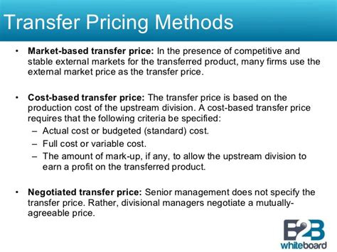 transfer pricing policy template transfer pricing