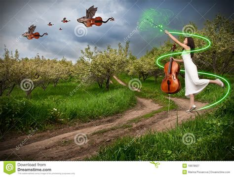 Dress Glow Violin with cello and violins stock image image 18978927