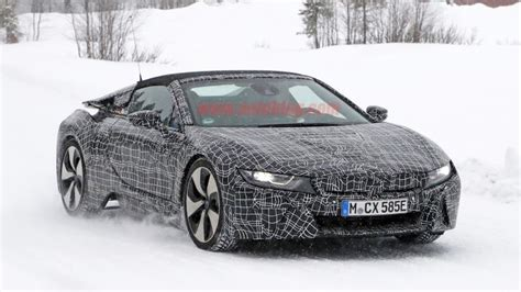 2018 bmw i8 spyder tested in the snow