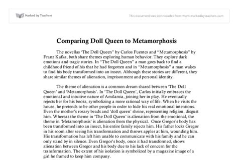 metamorphosis themes essay comparing themes of the doll queen and metamorphosis