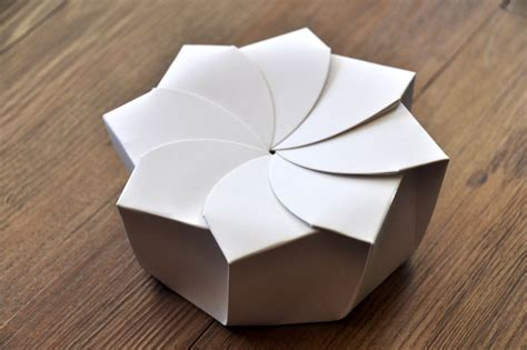 Origami Box Pattern - sustainable origami food box on packaging of the world