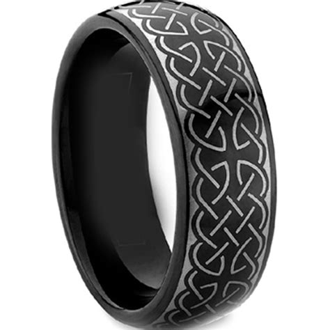 ring laser graphic tungsten carbide ring scratch free