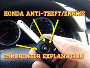 honda anti theft engine immobilizer explanation