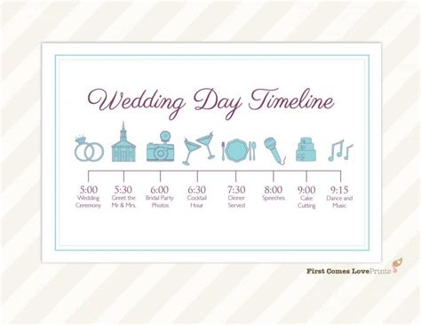 Wedding Details Card Template Timeline by Wedding Day Timeline Card Itinerary For Guests Big Day