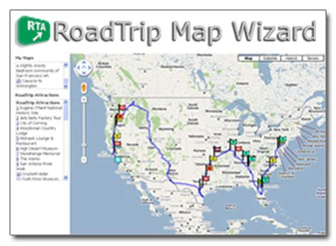 road trip america map wizard roadtrip america s new map wizard makes road trip planning