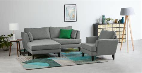 tweed corner sofa orlando corner sofa ash grey tweed made com