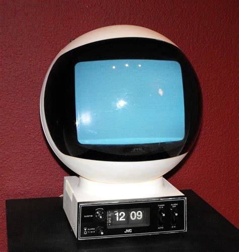Tv Portable Technology Japan 9 Inch 70 s jvc videophere portable tv with flip clock base