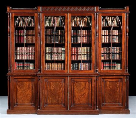 a antique library bookcase by gillows of