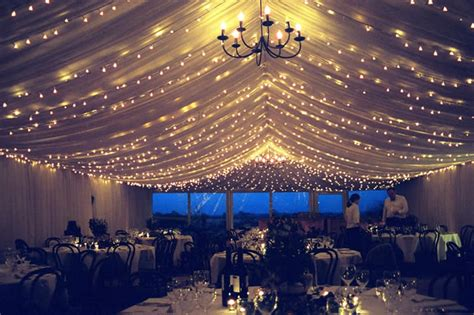 wedding lighting venue lighting ceiling drapes fairy