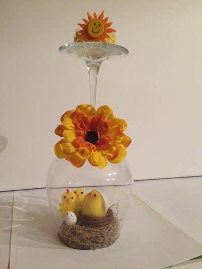 bicchieri a tavola bicchieri centro tavola pasquale per la casa e per te