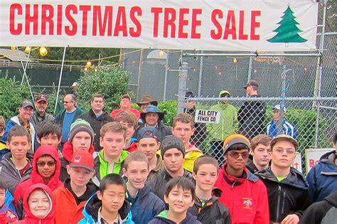 bellevue boy scouts christmas tree lot open through dec