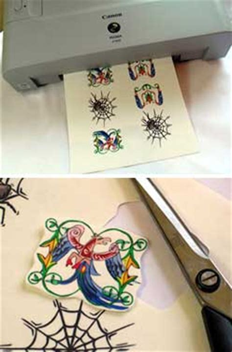 inkjet tattoo paper make tattoos at home with the inkjet paper