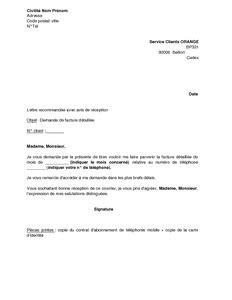 Exemple De Lettre De Demande De Facture Proforma Exemple Gratuit De Lettre Demande Facture D 233 Taill 233 E Orange