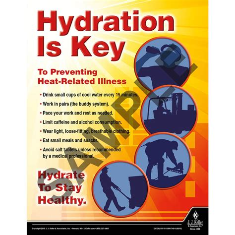 hydration is key hydration is key workplace safety advisor poster