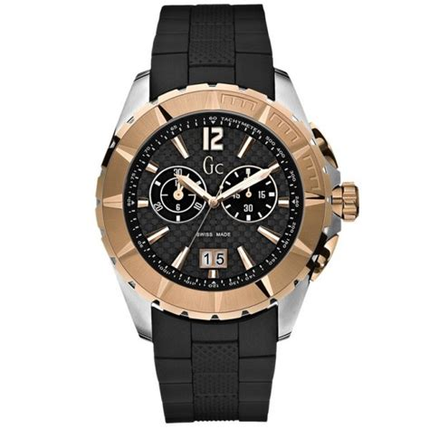 Guess Ceramica Bulat Gold Berkualitas guess collection mens gold black sports gc i40500g1
