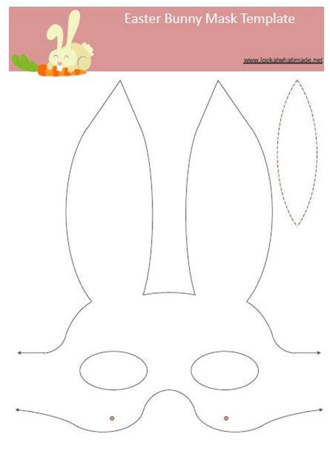 bunny face template printable www imgkid com the image