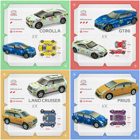 Toyota Papercraft - toyota papercraft series expands to include three