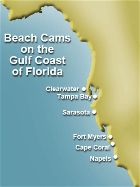 beach cams on the florida gulf coast from tampa bay, fort