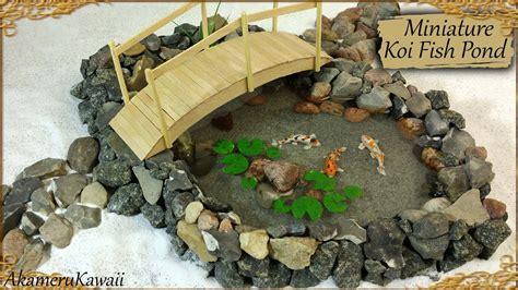 Miniature Koi Fish Pond   Polymer Clay/Resin Tutorial