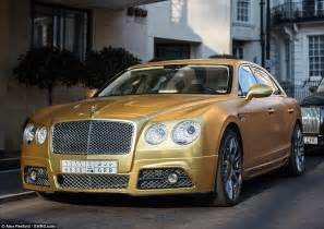 Gold Plated Bentley Photos Of Gold Plated Cars Of Saudi Billionaire Spotted In