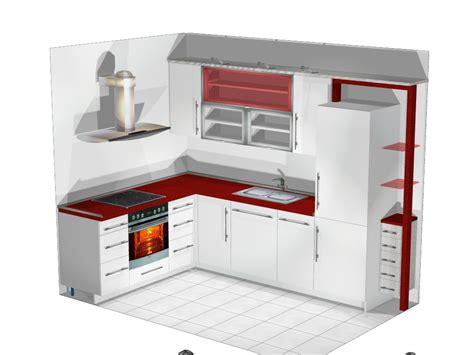 L Small by L Shaped Kitchen