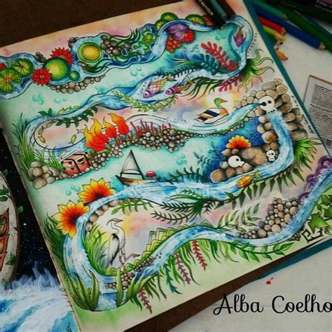 enchanted forest colored best 25 enchanted forest coloring book ideas on