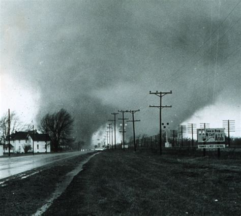 Elkhart Indiana Records 1965 Palm Sunday Tornadoes Photo Album