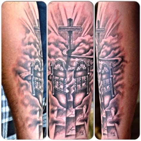 heaven gates tattoo custom heavens gates by joshua doyon ig