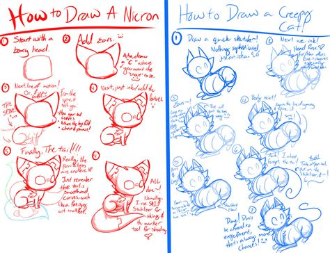 doodle drawing tutorial a feline drawing tutorial by flamesvoices on deviantart