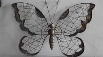 d 233 coration murale en fer forg 233 papillon