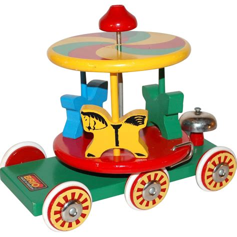 brio toy brio swedish wood carousel horse pull toy from
