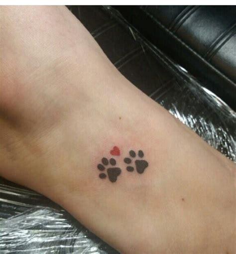 rip dog tattoos 306 best paw print tatoos images on