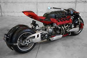 Maserati Motors A F136 Engine Shoehorned Into A Lazareth Motorcycle